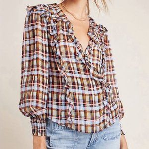 NWT Anthropologie - Maeve 18W Plus Size Plaid Top